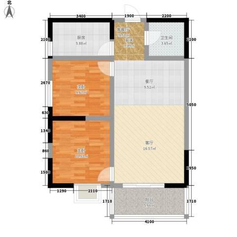 颐和郡2室1厅1卫1厨94.00㎡户型图