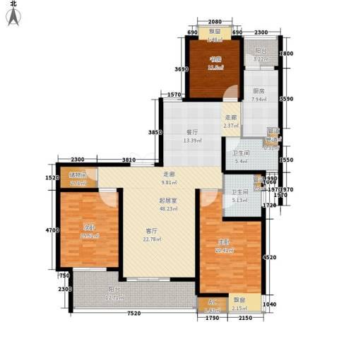 白塘壹号3室0厅2卫1厨153.00㎡户型图