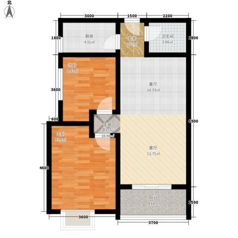 颐和郡2室1厅1卫1厨89.00㎡户型图