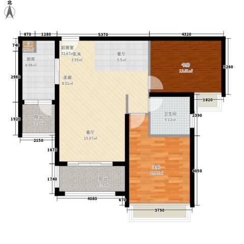 中信和平家园2室0厅1卫1厨90.00㎡户型图