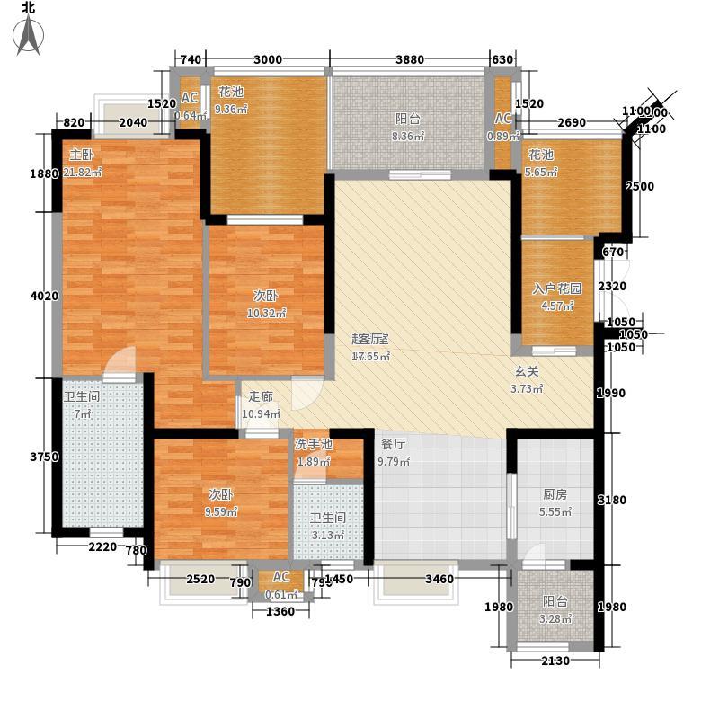 新鸿基悦城156.73㎡二期156.73平米户型3室2厅2卫1厨