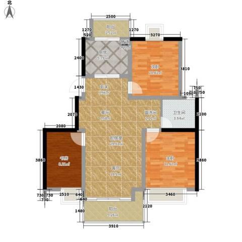 凤凰名城3室0厅1卫1厨90.00㎡户型图