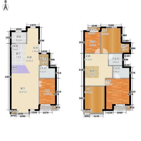 富苑华城4室0厅3卫1厨172.00㎡户型图