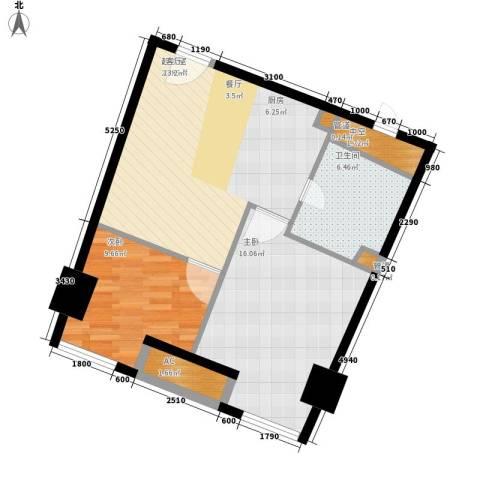 中宇国际中心2室0厅1卫0厨67.00㎡户型图