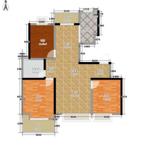 凤凰名城3室0厅1卫1厨127.00㎡户型图