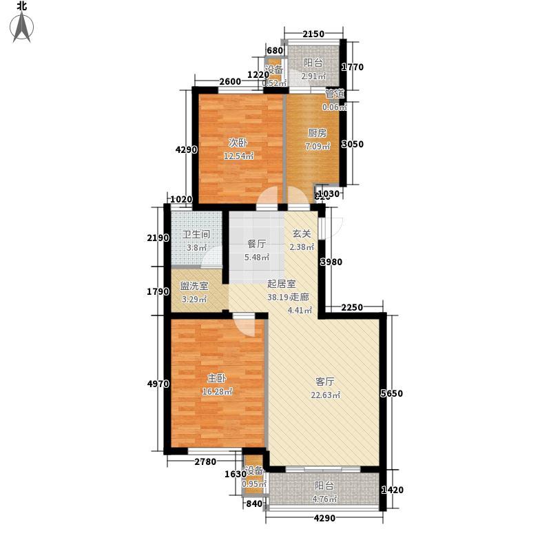 湖岸新城97.00㎡湖岸新城户型图W户型2室2厅1卫1厨户型2室2厅1卫1厨