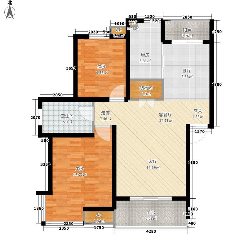 名馨花园99.00㎡名馨花园户型图户型图2室2厅1卫1厨户型2室2厅1卫1厨