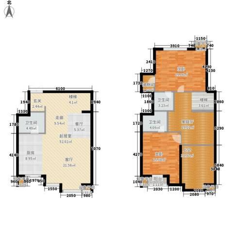 富苑华城2室0厅3卫0厨150.00㎡户型图