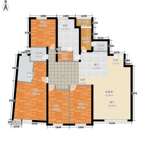 富苑华城5室0厅3卫1厨193.00㎡户型图