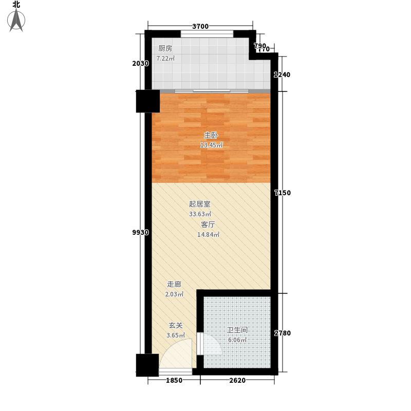唯C商务广场52.88㎡06户型1室1厅1卫