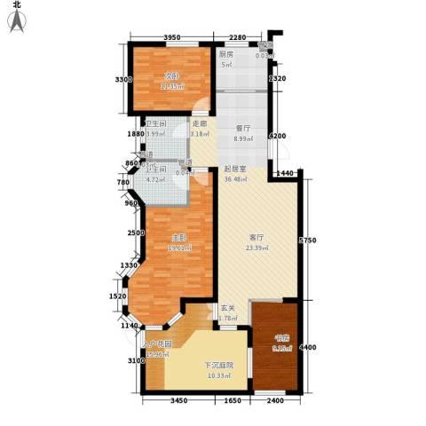 北国奥林匹克花园3室0厅2卫1厨120.07㎡户型图