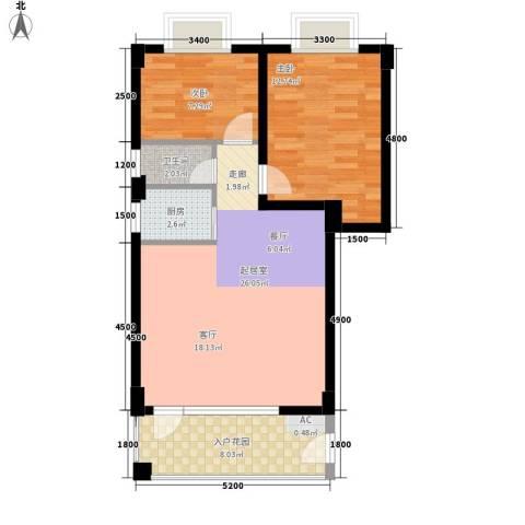 祥和花园2室0厅1卫1厨84.00㎡户型图