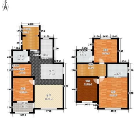 翡翠蓝湾4室0厅3卫1厨167.00㎡户型图