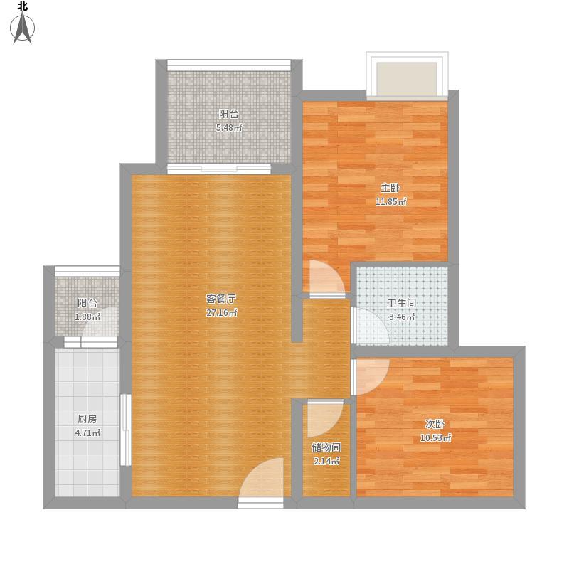 津都海岸  两居室  67㎡