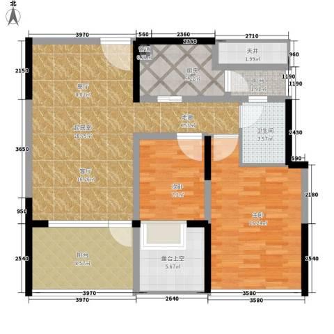 华侨新苑2室0厅1卫1厨92.00㎡户型图