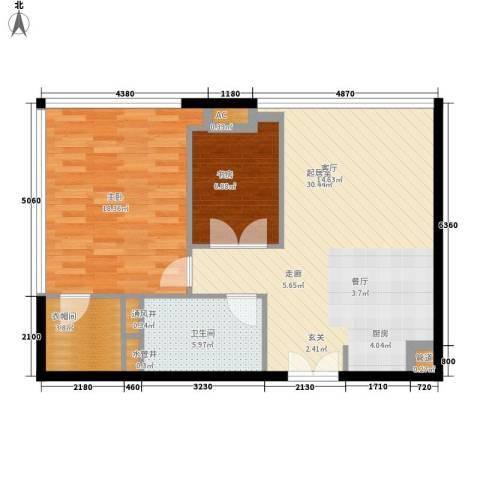 越秀・财富世纪广场2室0厅1卫0厨101.00㎡户型图