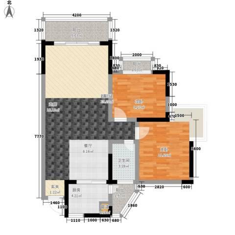 天龙广场2室0厅1卫1厨106.00㎡户型图