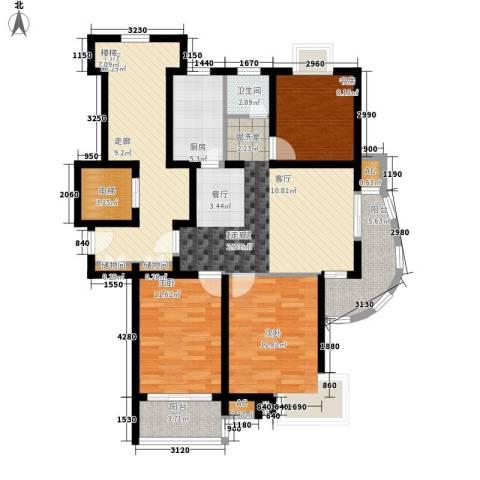 三香花园3室0厅1卫1厨110.00㎡户型图