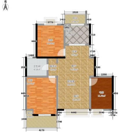 凤凰名城3室0厅1卫1厨122.00㎡户型图