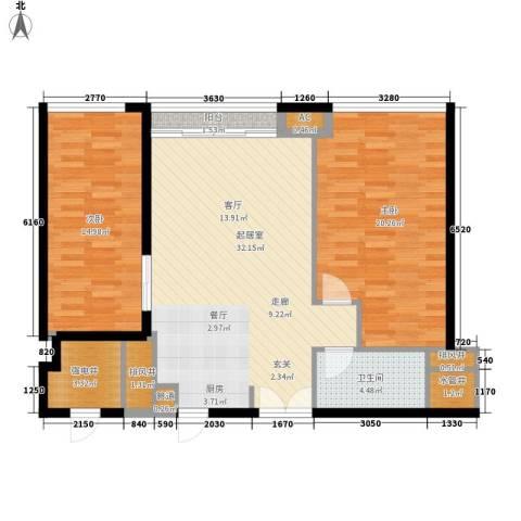 越秀・财富世纪广场2室0厅1卫0厨119.00㎡户型图