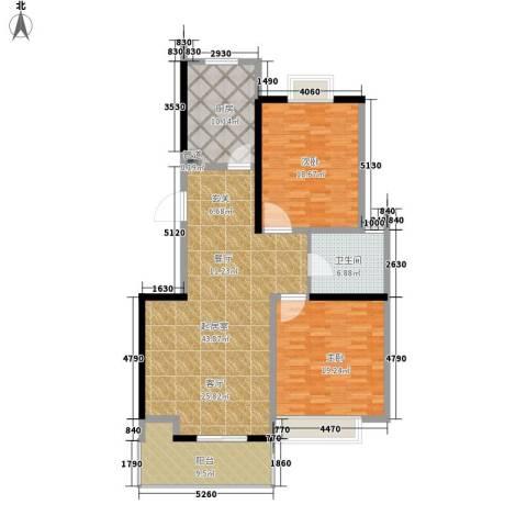 凤凰名城2室0厅1卫1厨121.00㎡户型图