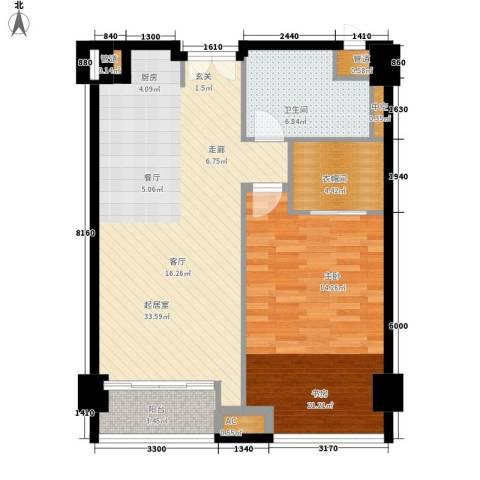 越秀・财富世纪广场1室0厅1卫0厨99.00㎡户型图