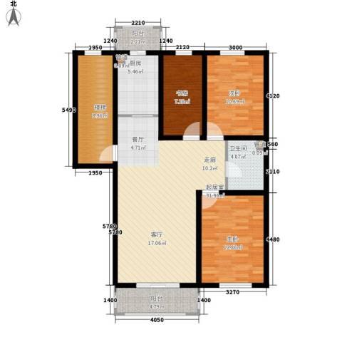 金美程家园3室0厅1卫1厨106.00㎡户型图