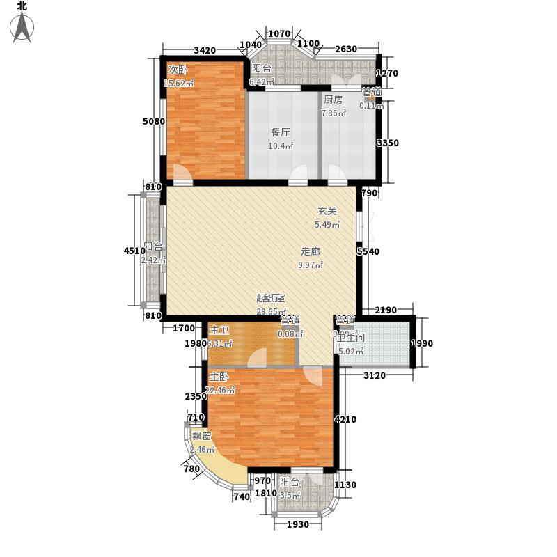 公园丽景110.60㎡两室两厅两卫110.60平方米户型2室2厅2卫1厨