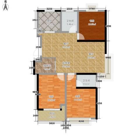 凤凰名城3室0厅2卫1厨128.00㎡户型图