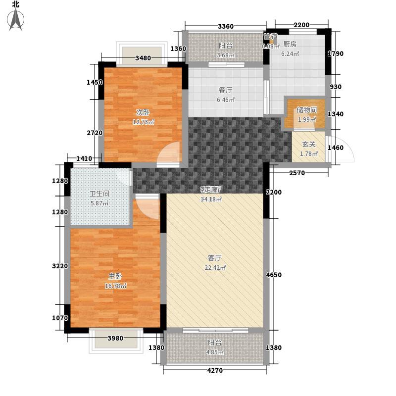 黄浦丽园109.00㎡黄浦丽园2室户型2室