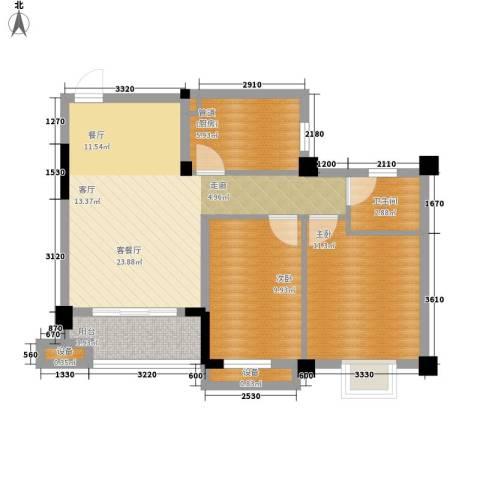 雅韵花园2室1厅1卫1厨90.00㎡户型图