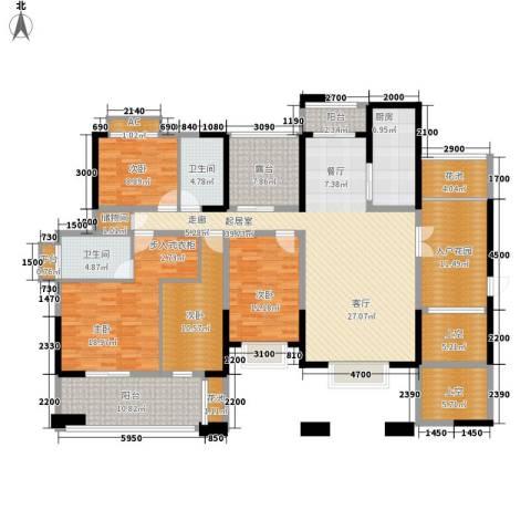 冶金设计院宿舍4室0厅2卫1厨231.00㎡户型图