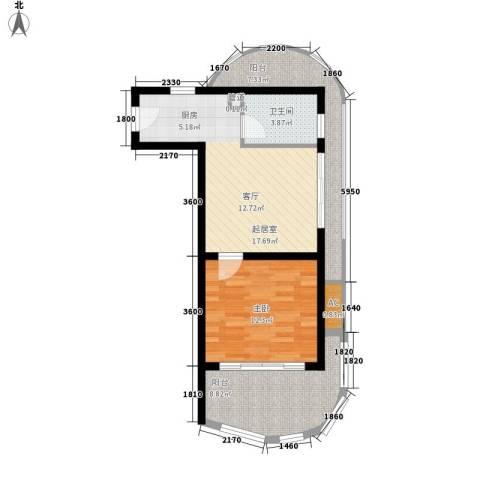 夏都海岸1室0厅1卫0厨77.00㎡户型图