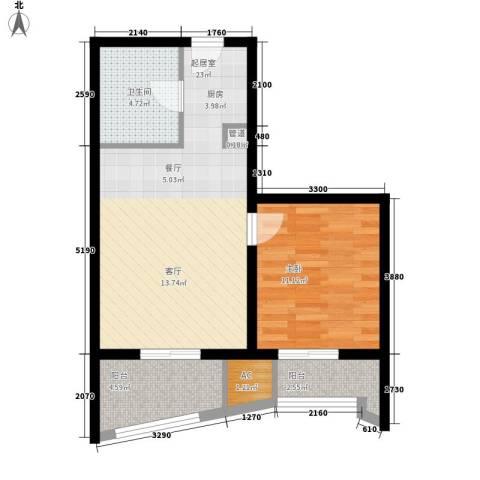 夏都海岸1室0厅1卫0厨78.00㎡户型图