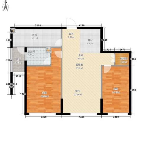 富苑华城2室0厅1卫1厨104.00㎡户型图