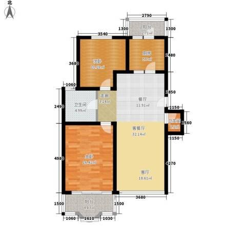 银都一村(闸北)2室1厅2卫1厨112.00㎡户型图