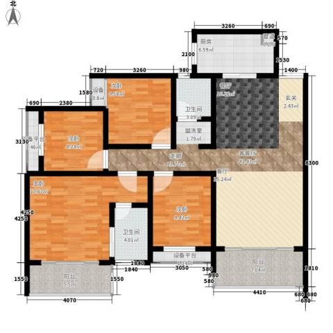 长房天翼未来城4室1厅2卫1厨134.60㎡户型图
