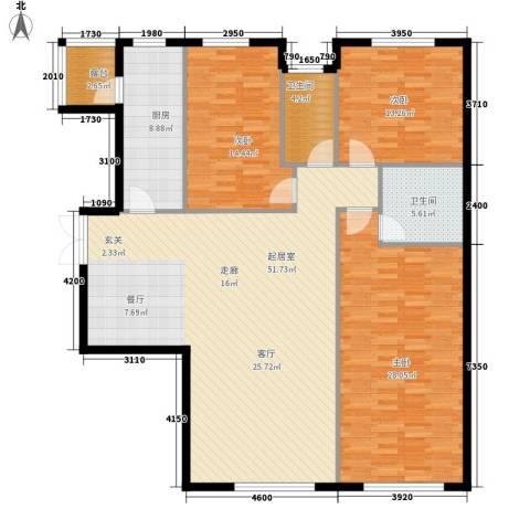富苑华城3室0厅2卫1厨140.00㎡户型图