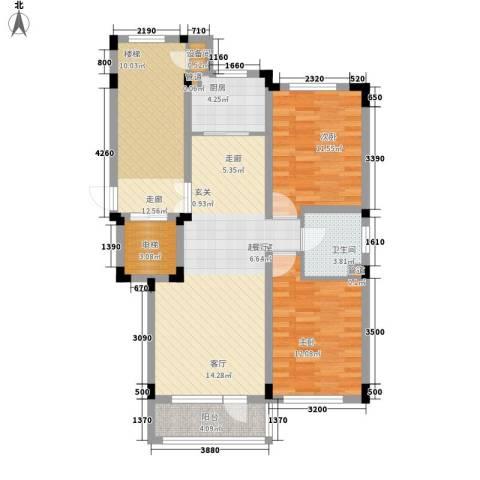 力旺塞歌维亚2室0厅1卫1厨92.00㎡户型图