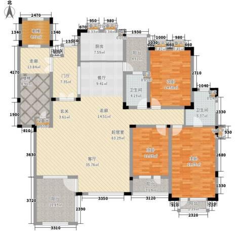 力旺塞歌维亚3室0厅2卫1厨183.00㎡户型图