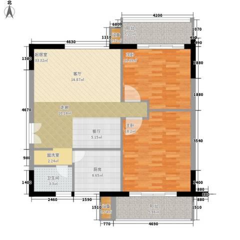 雄距都市东家2室0厅1卫1厨98.00㎡户型图