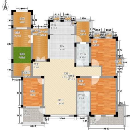 力旺塞歌维亚3室0厅2卫1厨157.00㎡户型图