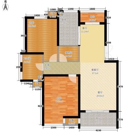 御庭国际公寓2室1厅1卫1厨110.00㎡户型图
