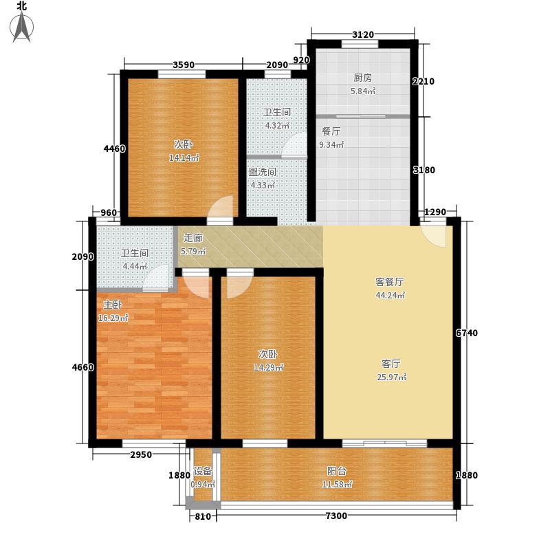 恒达清水园恒达清水园户型图户型图3室2厅2卫1厨户型3室2厅2卫1厨