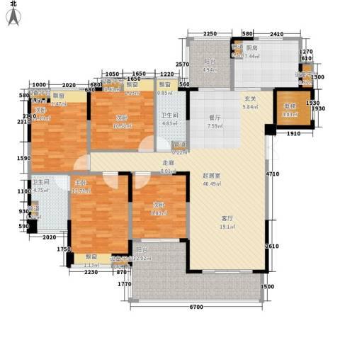 归心花园4室0厅2卫1厨138.00㎡户型图