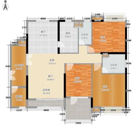 天寿大厦3室0厅2卫1厨169.00㎡户型图