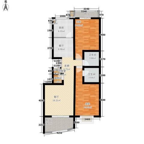 新东方花园2室0厅2卫1厨100.90㎡户型图