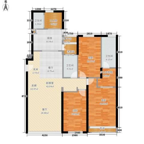 富苑华城3室0厅3卫1厨160.00㎡户型图