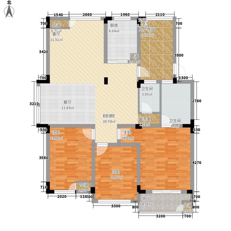 城改美景人家户型图1#2#3#4#6#A户型 3室2厅2卫1厨