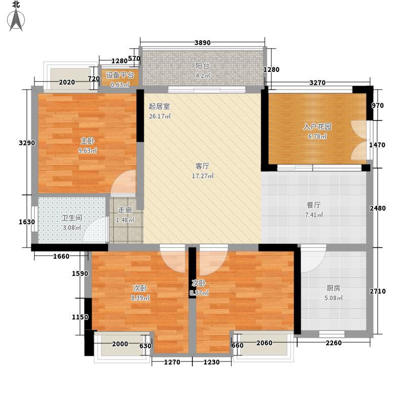 三江希望城88.54㎡一期4号楼标准层4-34-6户型